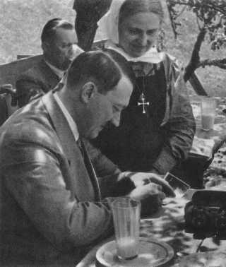 Hitler signing for Catholic nun fan